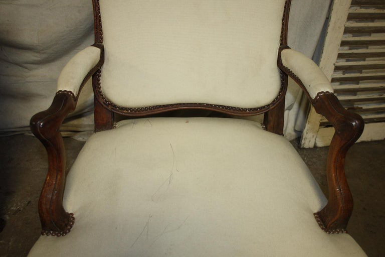 Beautiful Pair of 18th Century French Armchairs For Sale 4