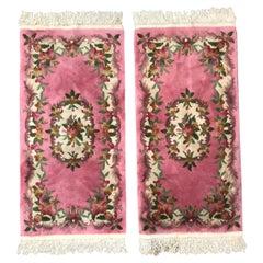 Beautiful Pair of Chinese Savonnerie Design Rugs