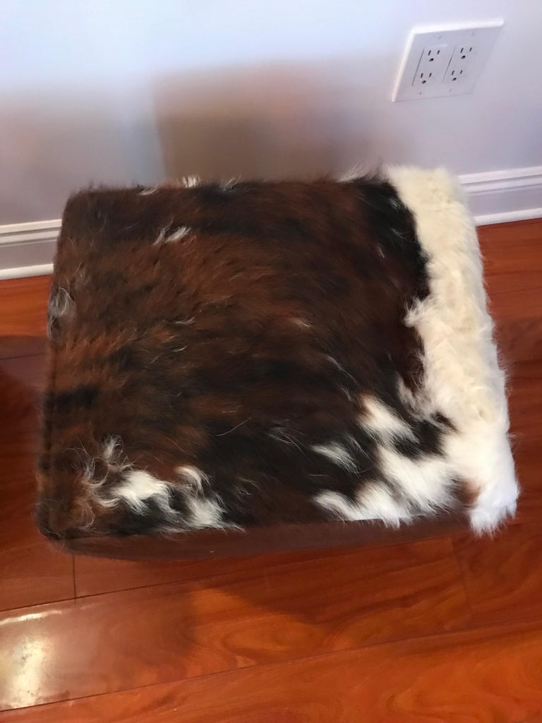 Beautiful Pair of Cow Hide Benches or Ottomans For Sale 4