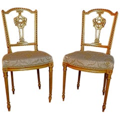 Beautiful Pair of French Louis Philippe Style Chairs