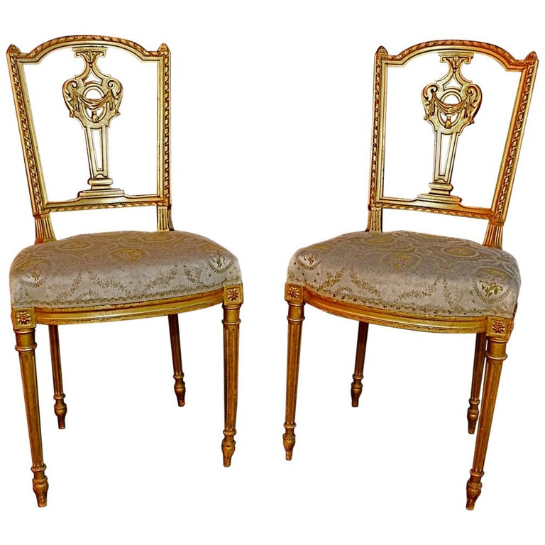 Beautiful Pair Of French Louis Philippe Style Chairs For