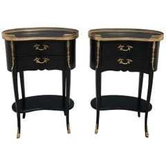 Pair of French Louis XV Side Tables or Accent Table, 1920s