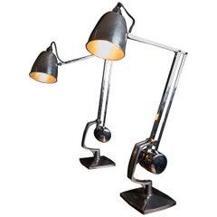 Beautiful Pair of Hadrill & Hortsman Counterbalance Table Lamps, circa 1930s