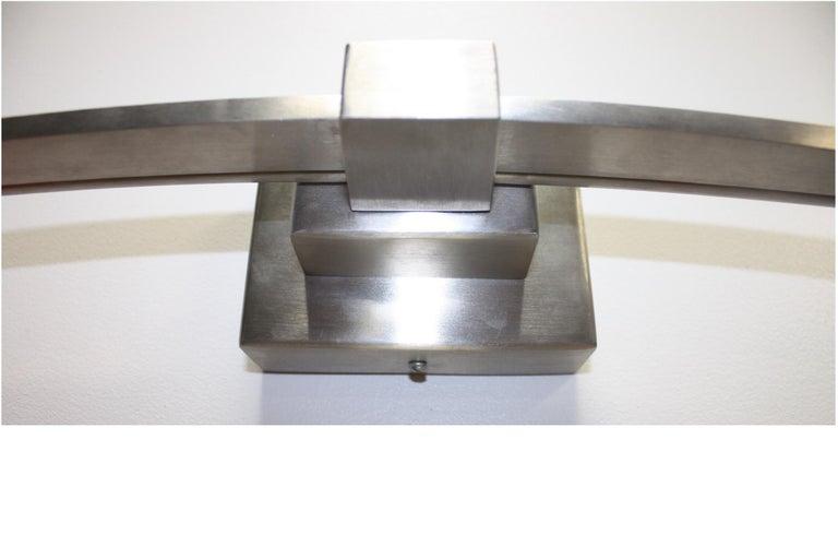 Aluminum Beautiful Pair of Italian Sconces