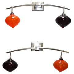 "Beautiful Pair of Italian Sconces ""Alessi"""