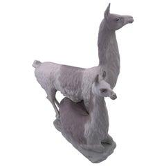 Beautiful Pair of Lamas Lladro Sculpture