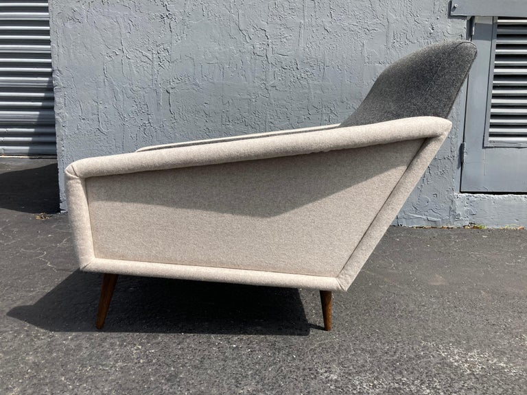 Beautiful Pair of Lounge Chairs, Kvadrat Fabric, Oak Legs, Gray For Sale 10