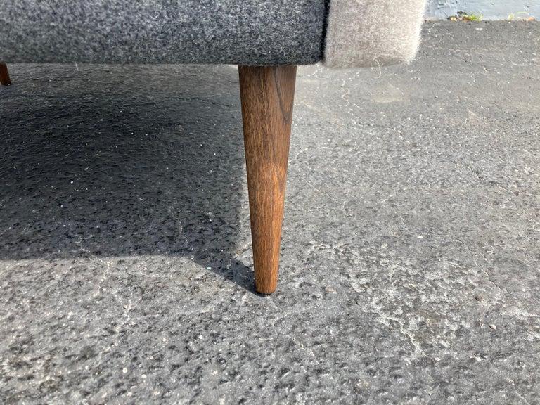 Beautiful Pair of Lounge Chairs, Kvadrat Fabric, Oak Legs, Gray For Sale 3