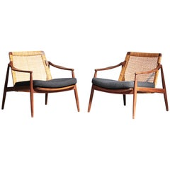 Beautiful Pair of Lounge Easy Chairs by Hartmut Lohmeyer for Wilkhahn