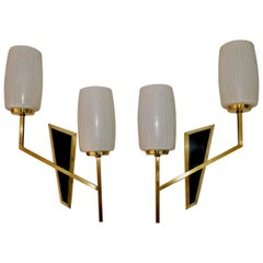 Beautiful Pair of Midcentury French Sconces Design by Maison Arlus