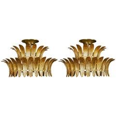 Beautiful Pair of Murano Glass Chandeliers by Studio Glustin