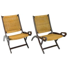 Beautiful Pair of Ninfea Lounge Chairs, Design Gio Ponti for Reguitti Italy 1958