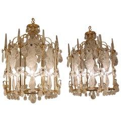 Beautiful Pair of Rock Crystal Lanterns