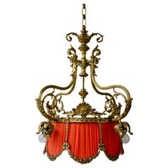 Beautiful Palatial Bronze Chandelier in the Shape of a Crown