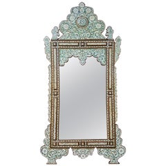 Beautiful Palatial Syrian Mirror with Mother of Pearl and Abalone