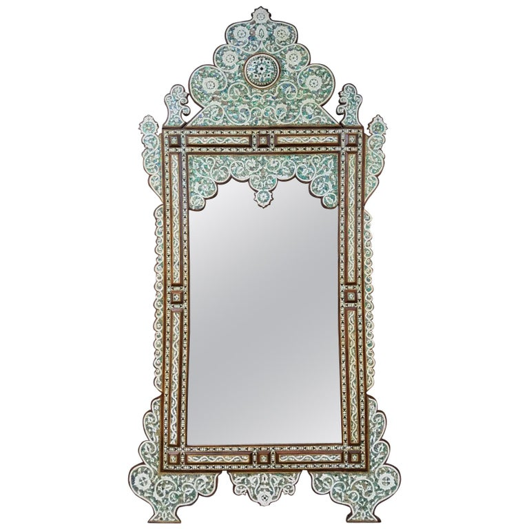 Beautiful Palatial Syrian Mirror With Mother Of Pearl And