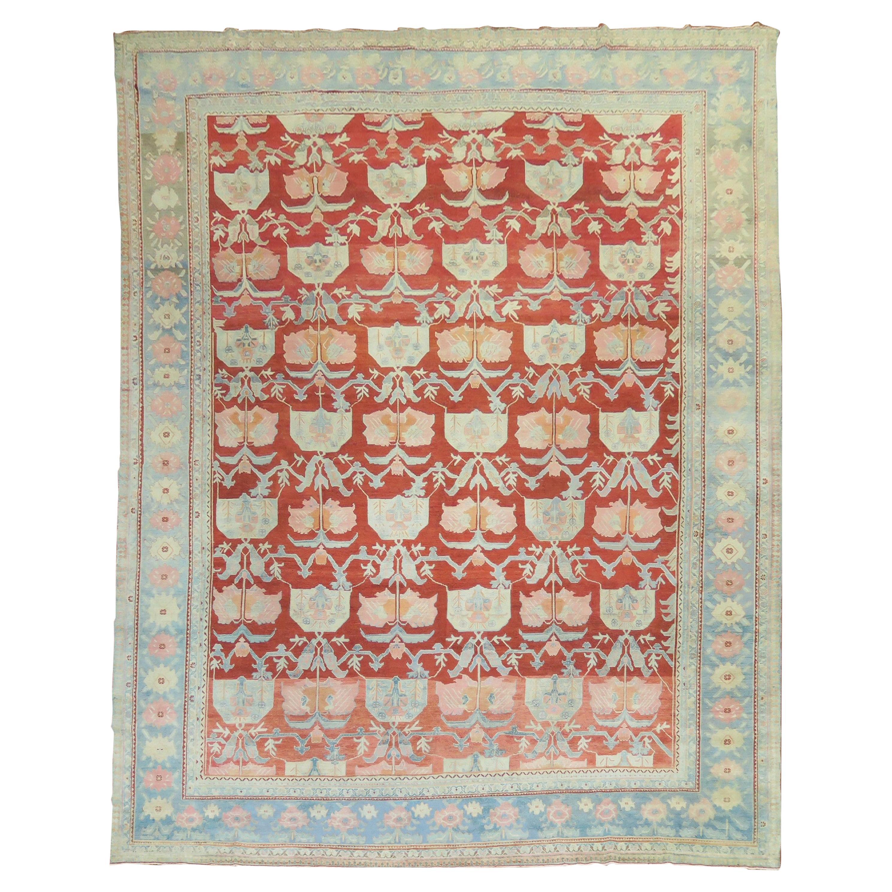 Beautiful Persian Floral Pattern Fine Carpet