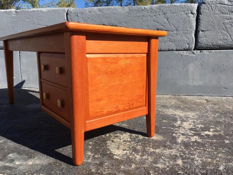 Beautiful Pine Craftsman Desk Prouve Chapo Style For Sale 4