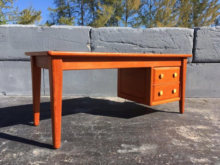 Beautiful Pine Craftsman Desk Prouve Chapo Style For Sale 6