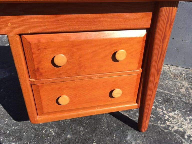 Beautiful Pine Craftsman Desk Prouve Chapo Style For Sale 7