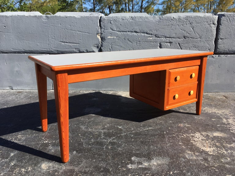 Beautiful Pine Craftsman Desk Prouve Chapo Style For Sale 8