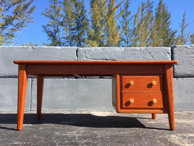 Beautiful Pine Craftsman Desk Prouve Chapo Style For Sale 9