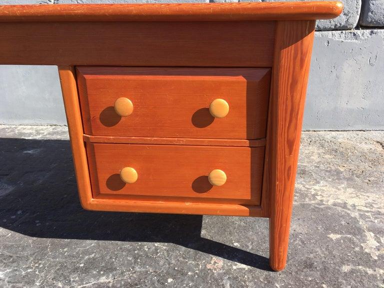 Beautiful Pine Craftsman Desk Prouve Chapo Style For Sale 10