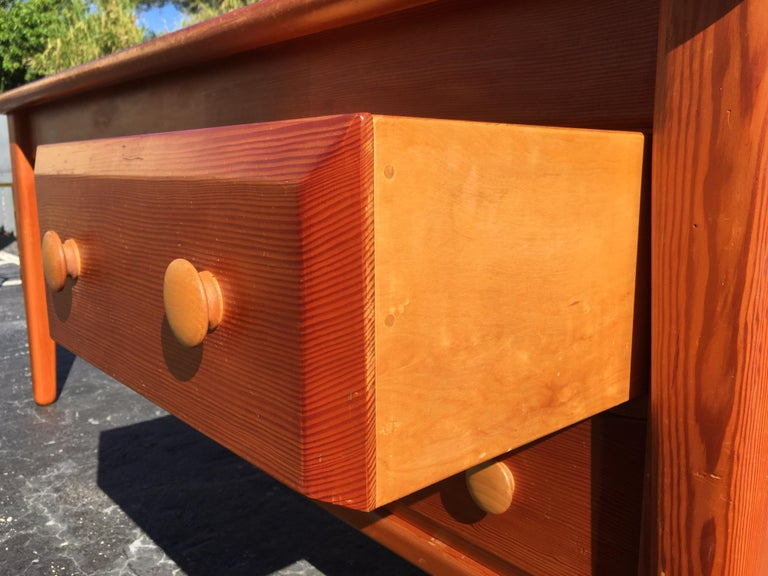Beautiful Pine Craftsman Desk Prouve Chapo Style For Sale 11