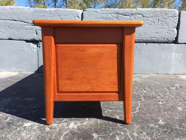 Mid-Century Modern Beautiful Pine Craftsman Desk Prouve Chapo Style For Sale