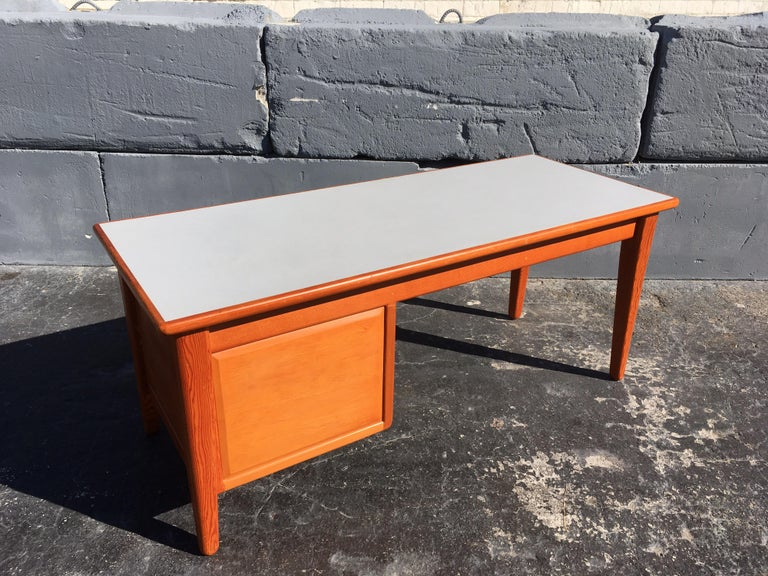 Beautiful Pine Craftsman Desk Prouve Chapo Style For Sale 1