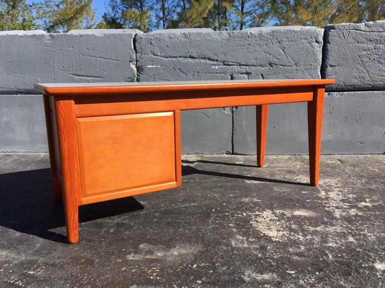 Beautiful Pine Craftsman Desk Prouve Chapo Style For Sale 3