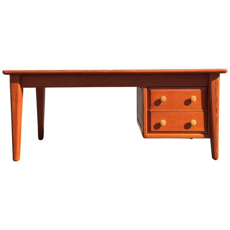 Beautiful Pine Craftsman Desk Prouve Chapo Style For Sale