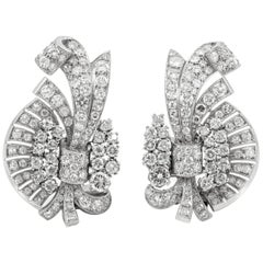 Beautiful Platinum with Different Size of Round Diamond Earrings