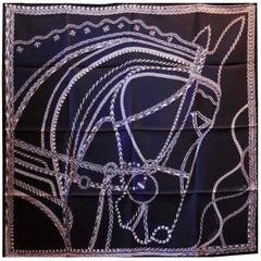 "Beautiful Rare 2018 Hermes Silk Scarf "" Robe du Soir"" by Florence Manklin"