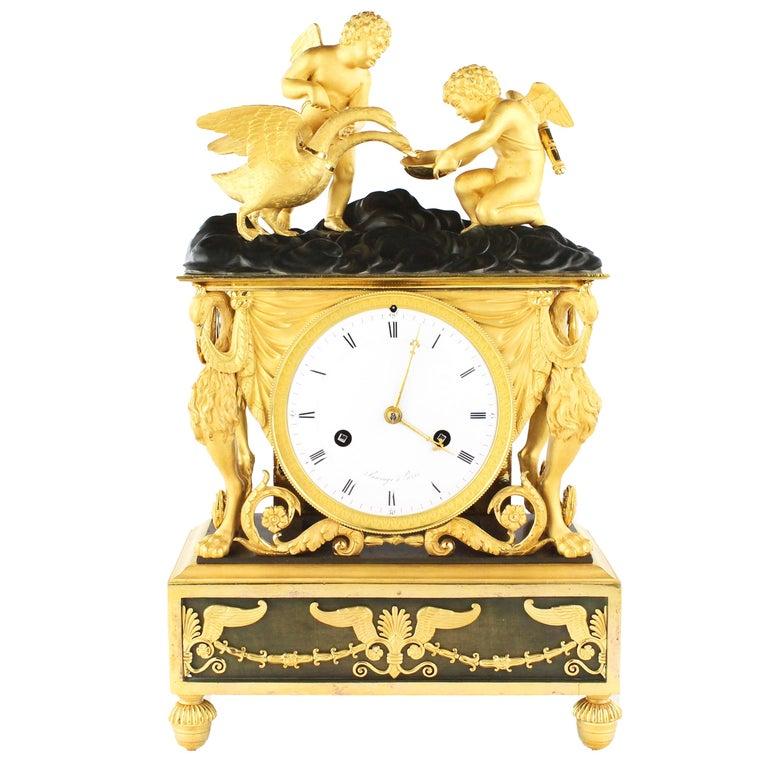 "Beautiful Rare Pendule, France, Directoire, circa 1790-1800, ""Sauvage À Paris"" 1"