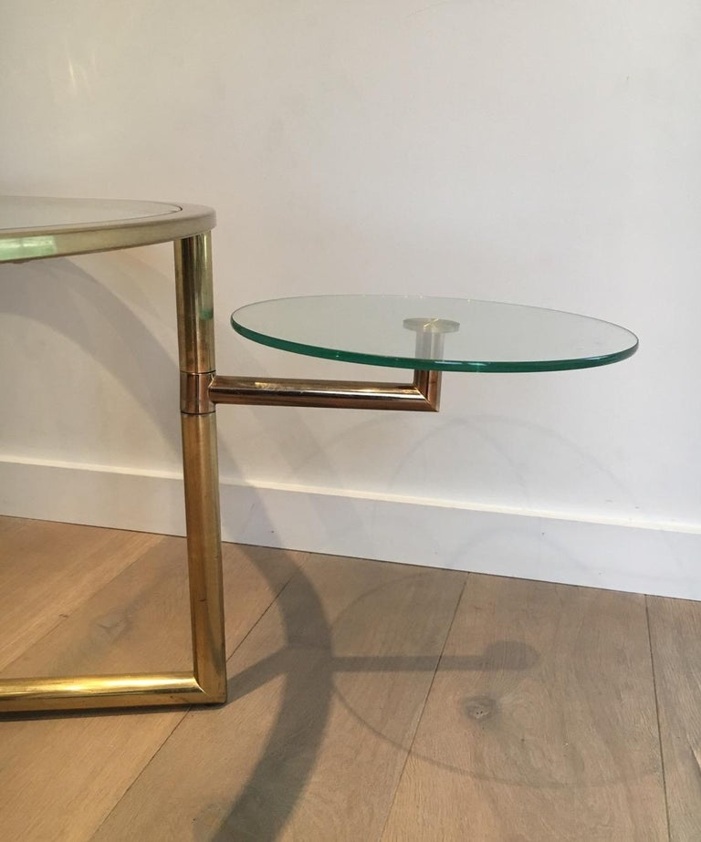 Beautiful Rare Round Gold Gilt Coffee Table with Removable Round Glass Shelves For Sale 12