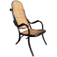 Beautiful Rare Thonet High Back Armchair No 6351 Black