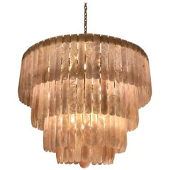 Beautiful Rose Rock Crystal Chandelier