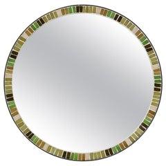 Beautiful Round Midcentury Mosaic Wall Mirror from Münchner Zierspiegel Mirror