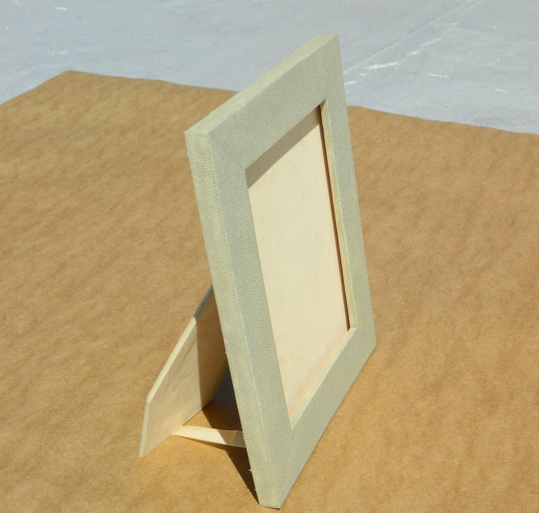 Sage natural Shagreen picture frame We custom make any sizes color and shape.