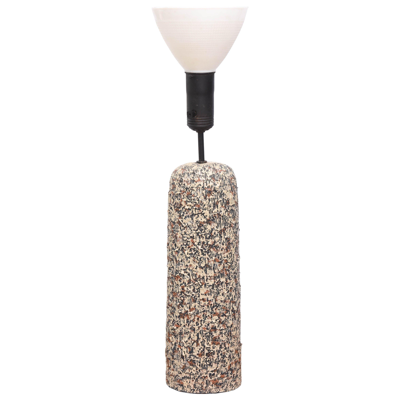 Beautiful Sargeri Ceramic Mid-Century Modern Lamp, 1950s, USA