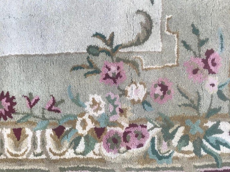 Beautiful Savonnerie Style Hand Tufted Rug For Sale 3