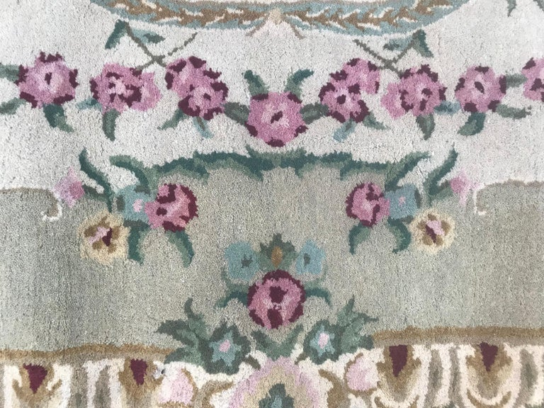 Beautiful Savonnerie Style Hand Tufted Rug For Sale 1