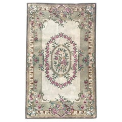 Beautiful Savonnerie Style Hand Tufted Rug