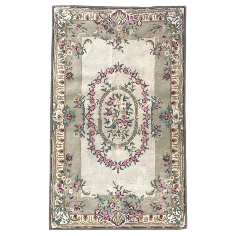 Beautiful Savonnerie Style Hand Tufted Rug For Sale