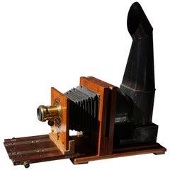 Beautiful Scottish Victorian Mahogany Magic Lantern or Camera