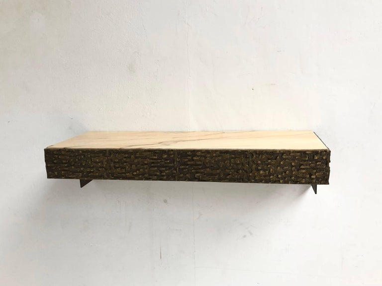 Beautiful Sculptural Bronze Relief Console by Luciano Frigerio, 1965, Italy For Sale 3