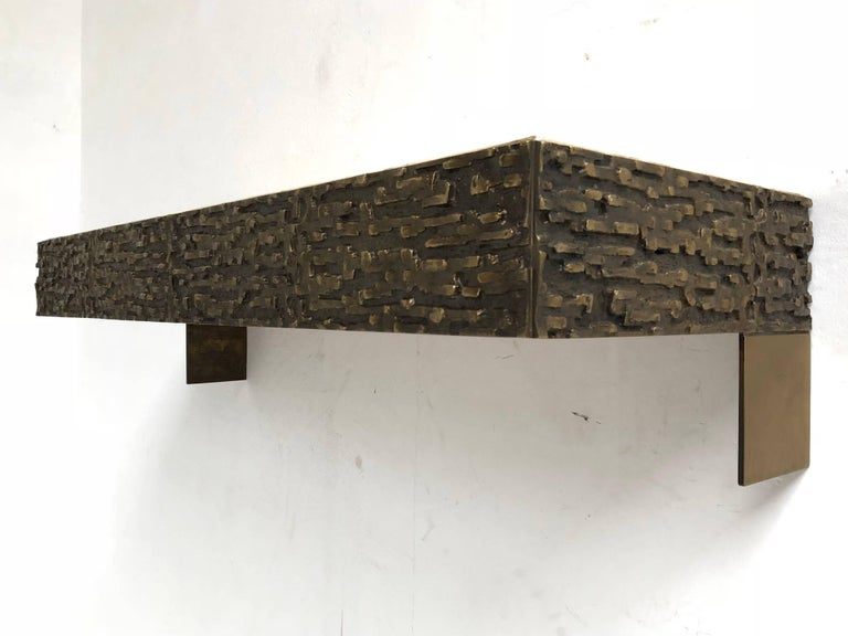 Beautiful Sculptural Bronze Relief Console by Luciano Frigerio, 1965, Italy For Sale 4
