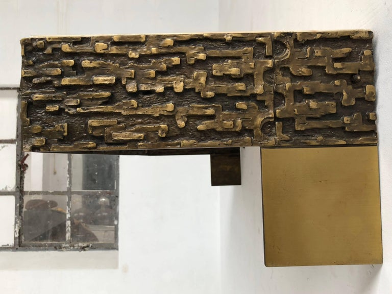 Beautiful Sculptural Bronze Relief Console by Luciano Frigerio, 1965, Italy For Sale 5