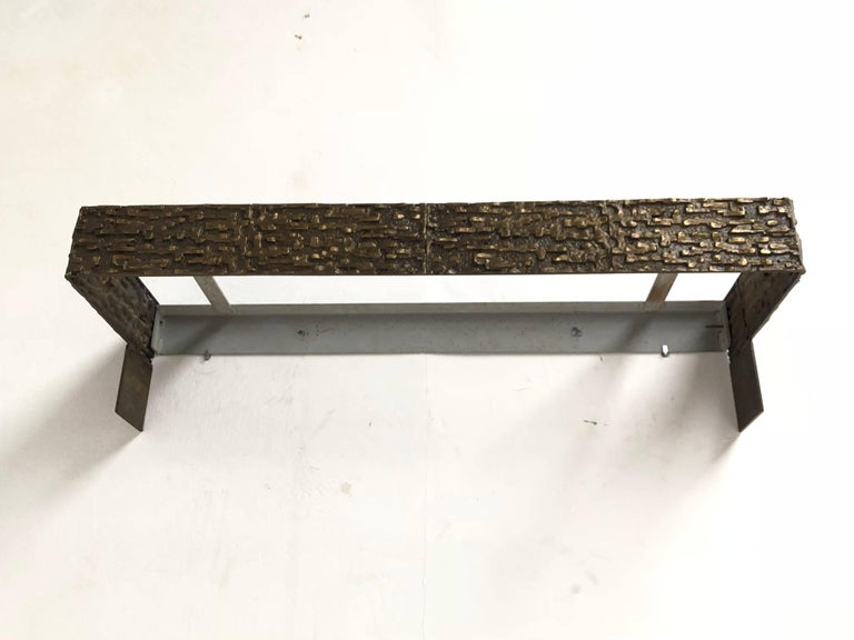Beautiful Sculptural Bronze Relief Console by Luciano Frigerio, 1965, Italy For Sale 11